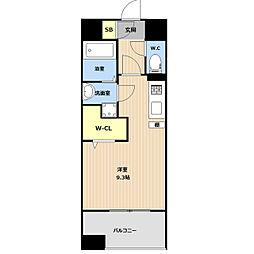 LIBTH(リブス)吉塚II 4階ワンルームの間取り