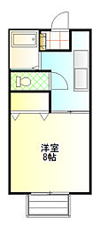 茨城県土浦市木田余東台5丁目の賃貸アパートの間取り