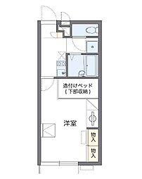 千葉県八千代市村上の賃貸アパートの間取り
