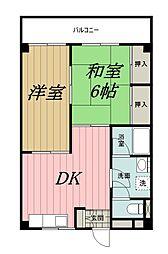 千葉県千葉市中央区都町2丁目の賃貸マンションの間取り