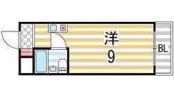 シャンテ三船[206号室]の間取り