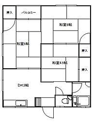 因幡荘[A111号室]の間取り