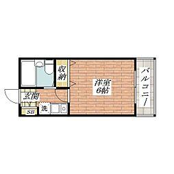 シャルムK[3階]の間取り