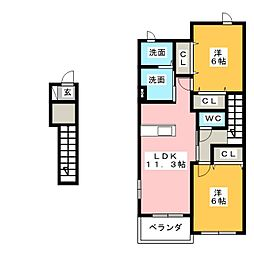 サンリットI[1階]の間取り