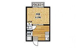 オリーブコート東福山B棟[2階]の間取り