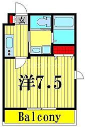 (仮称)舎人5丁目メゾン 2階1Kの間取り