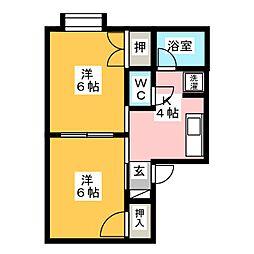 ジョイハウス[1階]の間取り