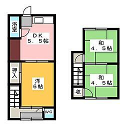 [テラスハウス] 愛知県岩倉市下本町西沼 の賃貸【/】の間取り