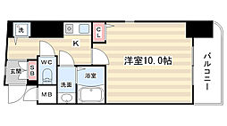 リーガル京都河原町五条[310号室]の間取り