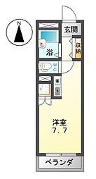 愛知県名古屋市中村区大宮町1丁目の賃貸マンションの間取り