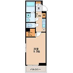 JR仙山線 東照宮駅 徒歩13分の賃貸アパート 1階1Kの間取り