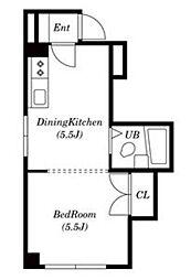 センターハイツmori[3階]の間取り
