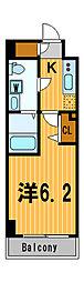 ライジングプレイス川崎二番館[6階]の間取り