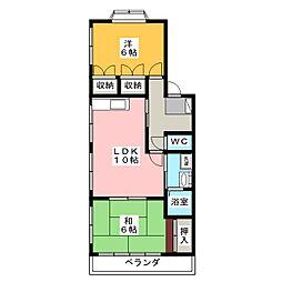海野ハイツ[2階]の間取り