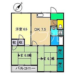 マンションベスタ[2階]の間取り