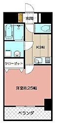 紺ニビル[202号室]の間取り