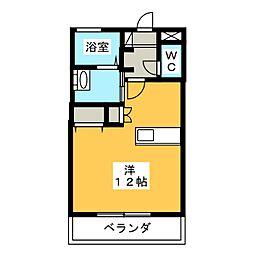 シャルム[3階]の間取り