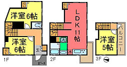 [一戸建] 東京都葛飾区西新小岩3丁目 の賃貸【/】の間取り