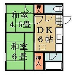 メゾンタカノハ[103号室]の間取り