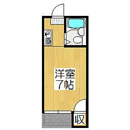 サンフローラ[402号室]の間取り