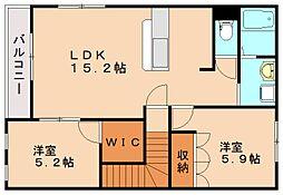グランドセフトオートジー[2階]の間取り