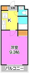 埼玉県富士見市西みずほ台1丁目の賃貸マンションの間取り