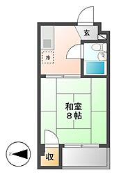 東山レジデンス[3階]の間取り