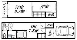 [一戸建] 大阪府大阪市生野区田島2丁目 の賃貸【/】の間取り