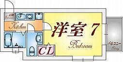 アメニティハイツ須磨寺[2階]の間取り