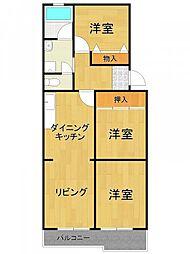 ティアラ武庫川[305号室]の間取り