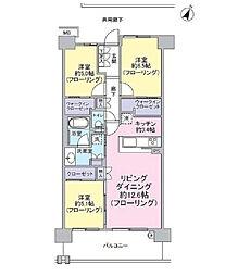 ルネ蘇我ディアパーク[7階号室]の間取り