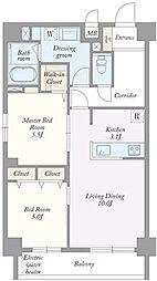 築地MKハウス[0301号室]の間取り