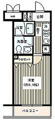 東京都世田谷区奥沢7丁目の賃貸マンションの間取り