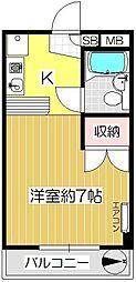 キャピタルシティキノシタ[302号室]の間取り