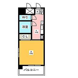 ジュネス博多[4階]の間取り