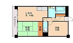 サンフラワー博多南2[3階]の間取り