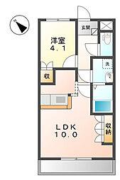 埼玉県さいたま市岩槻区上里1丁目の賃貸マンションの間取り