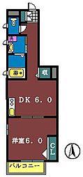 ハイマートハウス[102号室]の間取り
