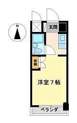 愛知県名古屋市中村区黄金通1丁目の賃貸マンションの間取り