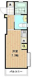神奈川県川崎市中原区木月2丁目の賃貸アパートの間取り