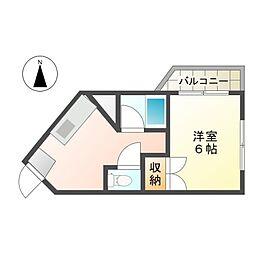 プレアール南方II[4階]の間取り