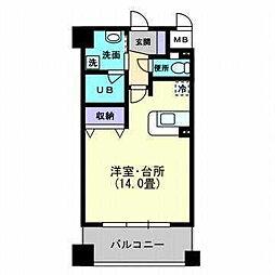 松山ウェスティン[706 号室号室]の間取り