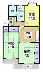 カーサ天王の杜[3階]の間取り