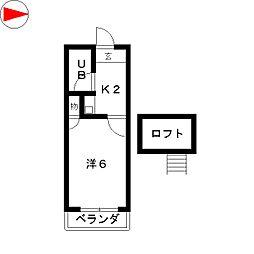 レオパレス岩塚第4[2階]の間取り