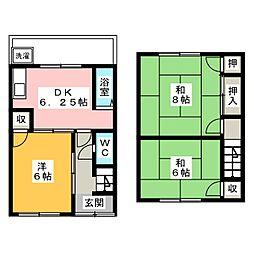 [テラスハウス] 愛知県名古屋市西区八筋町 の賃貸【愛知県 / 名古屋市西区】の間取り