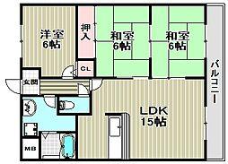 エントピア福泉[2階]の間取り