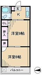 第3ヒルズハウス[2階]の間取り