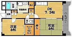 メゾンリバーサイド1[5階]の間取り