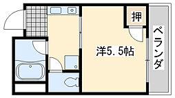ローブル尾崎[2A号室]の間取り