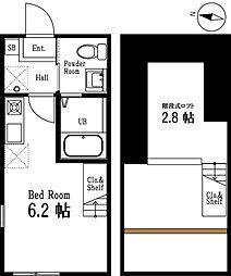 ハーミットクラブハウス上大岡IIA棟(仮称)[2階]の間取り